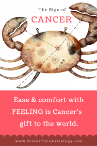 Cancer Sign Comfort with Feeling